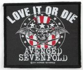 Avenged Sevenfold - 'Love It or Die' Woven Patch